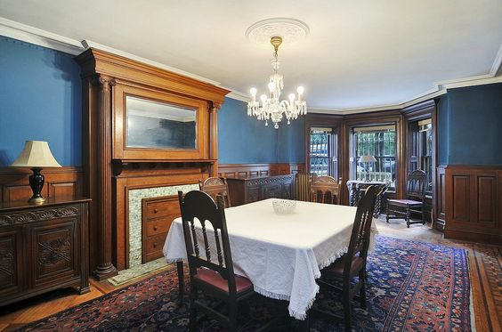 Prospect Park Place West Victorian brownstone interior dining room fireplace mantle | Flickr - Photo Sharing!