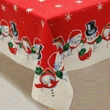 snowman vintage tablecloth | Yule Dig Auld Skool | Pinterest ...