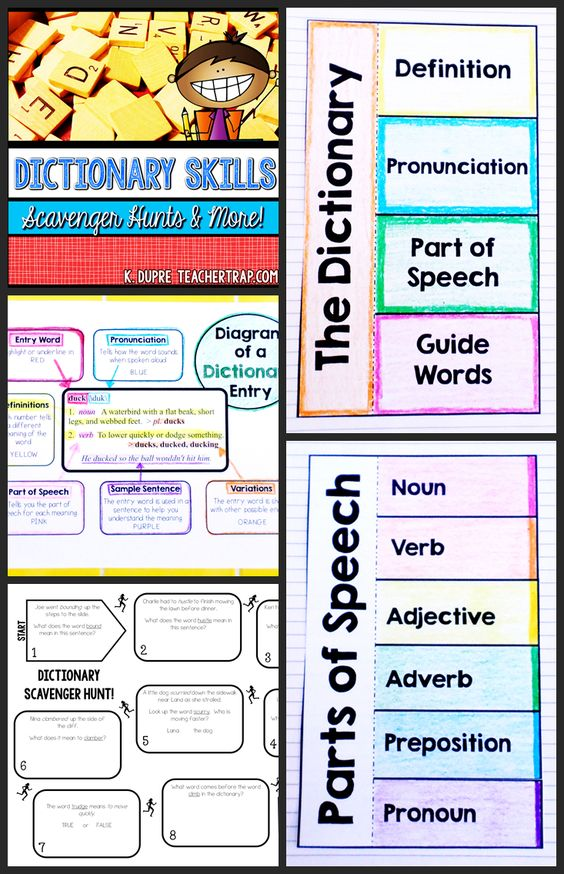 Master dictionary skills the fun way using Dictionary Scavenger Hunts!  Teaching tools, fold-ups and activities to help kids learn and apply dictionary skills!