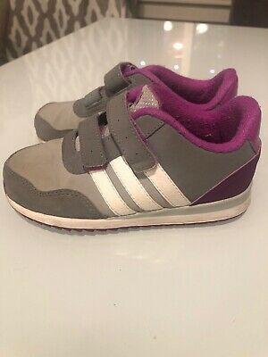 Sponsored)eBay Adidas Neo Boys Girls Purple Gray White