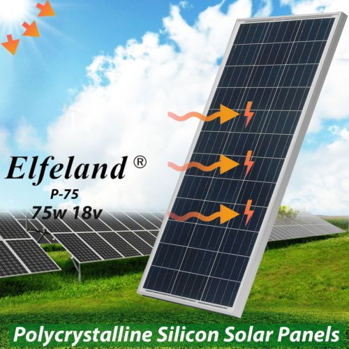 150w 18v Poly Solar Panel 2x 75w Off Grid Battery Charger For 12v Home Rv Boat Solar Panels Solar Panel Battery Solar
