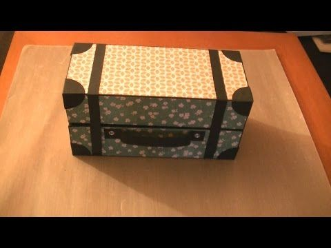 Como hacer maleta vintage reciclando cajas youtube for Cajas decorativas para almacenar