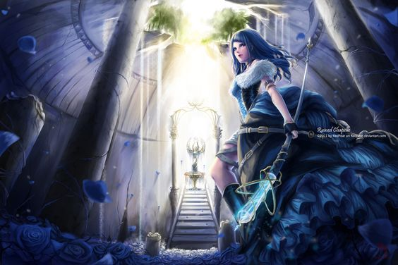 Blue Rose Queen 2 by RedPear: