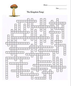 Kingdom Fungi Crossword Puzzle | Crossword Puzzles, Crossword and ...
