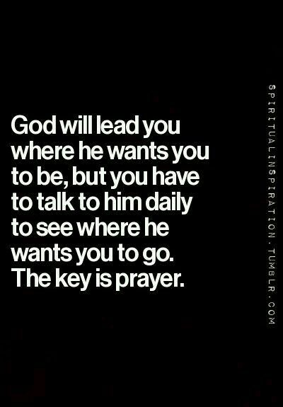 The key is prayer