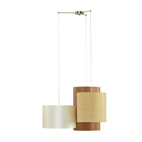 Features:  -Multi linen fabric shade.  -Hard wired switch.  -Orientation: Both…