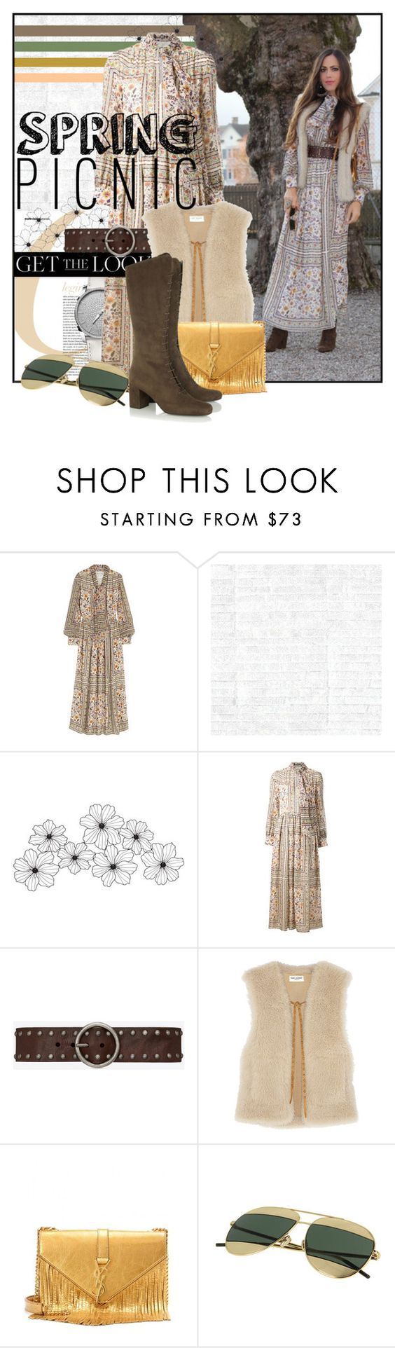 """Spring Picnic"" by sandrascloset ❤ liked on Polyvore featuring Yves Saint Laurent and Osborne & Little"