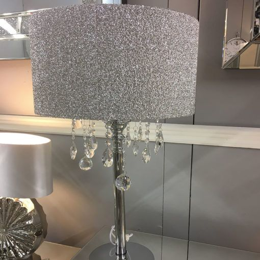 Crystal Glass Droplets Glitter Table
