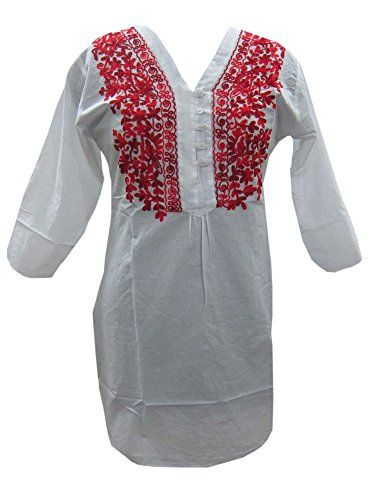 Bohemian White Embroidered Cotton Tunic Kurti S Mogul Interior http://www.amazon.com/dp/B00LCTYSG0/ref=cm_sw_r_pi_dp_319Tvb1ZTC1Y8