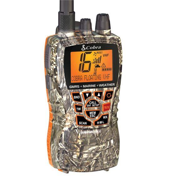 Cobra MF HH450 Dual VHF-GMRS Floating Handheld Radio - Camo