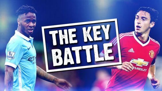 Matteo Darmian v Raheem Sterling: The key battle in Manchester United v Manchester City - http://footballersfanpage.co.uk/matteo-darmian-v-raheem-sterling-the-key-battle-in-manchester-united-v-manchester-city/