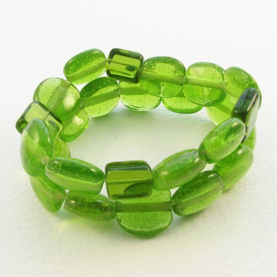 Recycled Glass Bracelet by christinavitale on Etsy, $8.00