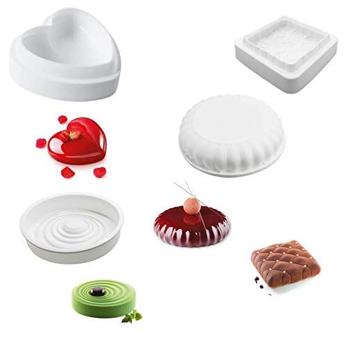 1 Pcs 3d Silicone Cake Mold White Color Baking Mold Mousse