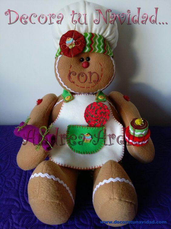 Espectacular muñeco navideño, una Galleta de Jengibre Cocinera.  Visitamos en nuestra pagina web en: http://www.decoratunavidad.com