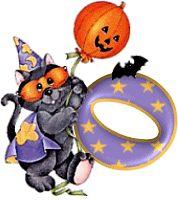 Oh my Alfabetos!: Alfabeto de gato disfrazado para Halloween.