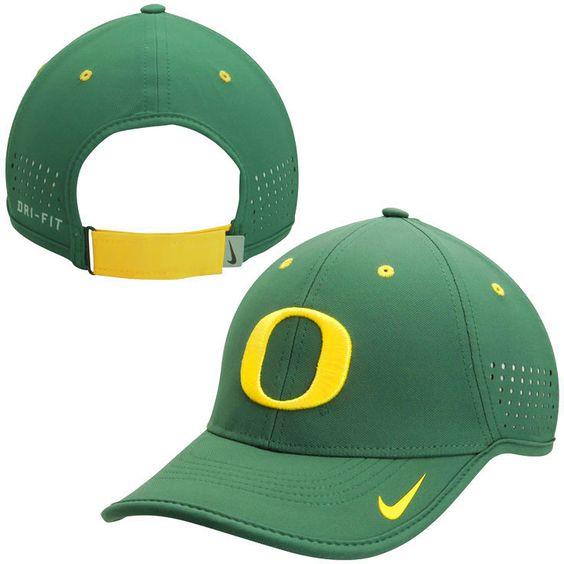 Oregon Ducks Nike Sideline Coaches Performance Hat - Green - $24.99