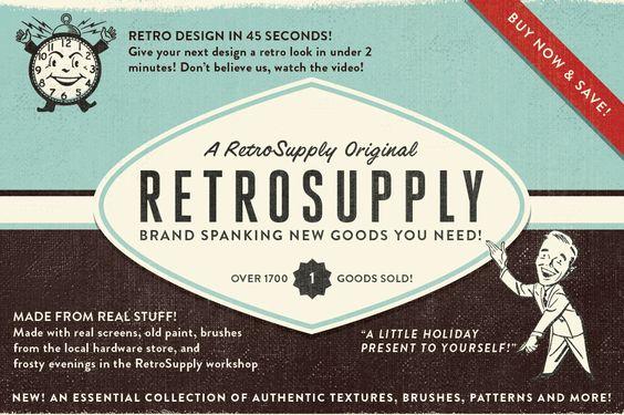 RetroSupply 2 - Photoshop Kit ~ Brushes on Creative Market