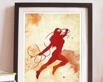 Vintage Spiderman Poster. Digital Print. Superhero by 2ToastDesign