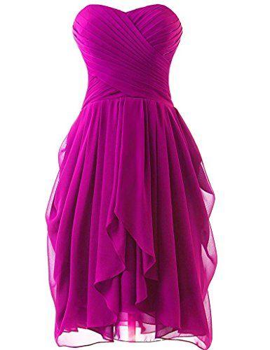Olidress Women's Short Ruched Chiffon Bridesmaid Dress Party Dress Fuschia US12 Olidress http://www.amazon.com/dp/B01BNFKLEK/ref=cm_sw_r_pi_dp_7Mi4wb1QDBG03