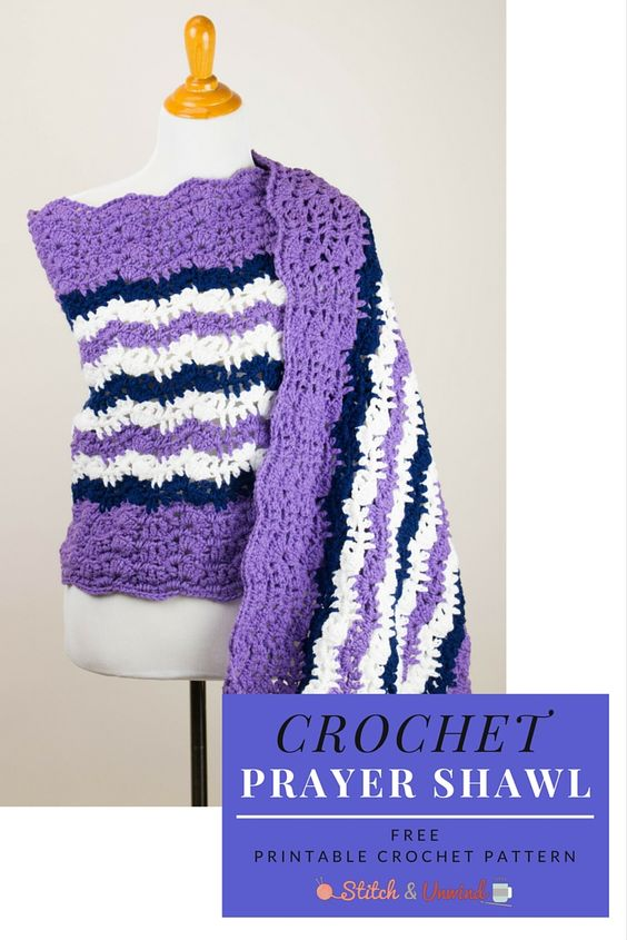 Printable Pattern: Free Crochet Prayer Shawl | Puntadas, Verano y ...