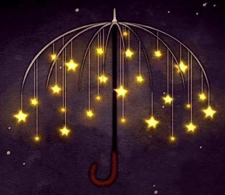 an umbrella of stars