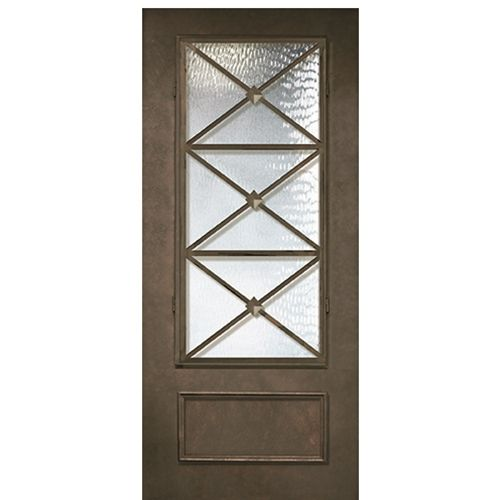 Thermaplus 6 8 1 Panel 3 4 Lite Republic Entry Doors Iron Entry Doors House With Porch