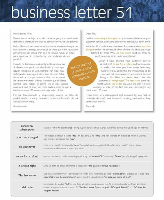 Business letter 51 IDIOMAS English Pinterest Business