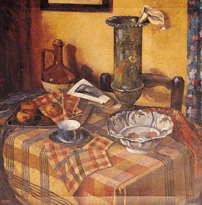 Naturaleza muerta de Adán Luis Pedemonte. 1931. Óleo s/tela. Colección de la Pinacoteca del Ministerio de Educación y Deportes.