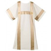 Cream Festive H-Bar Deacon  Dalmatic