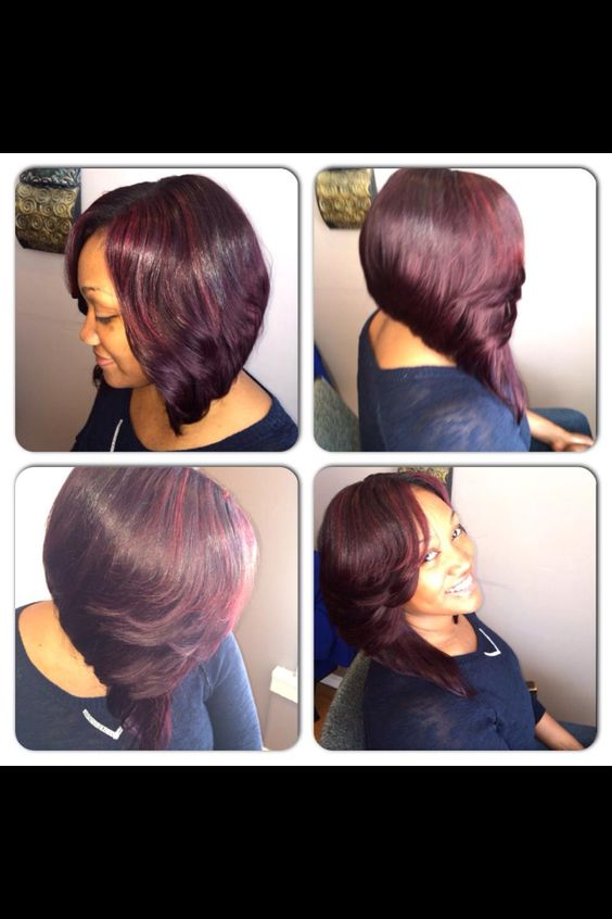 Pleasant Bobs Sew Ins And Up Hairstyles On Pinterest Hairstyles For Women Draintrainus