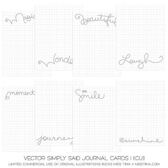 NEW Simply Said Journal Cards + printable freebies! | MissTiina.com {Blog}