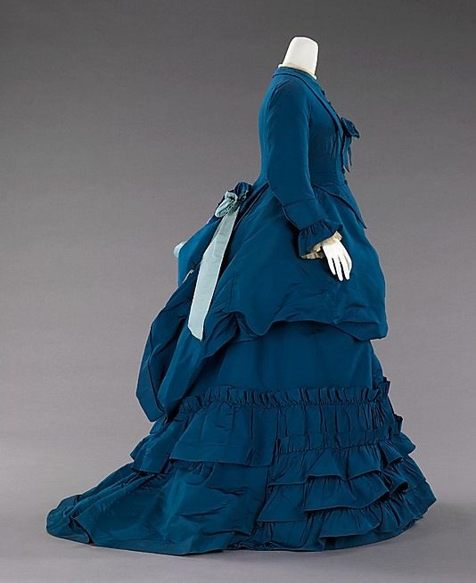 Afternoon dress House of Worth (French, 1858–1956) Designer: Charles Frederick Worth (French (born England), Bourne 1825–1895 Paris) Date: ca. 1872 Culture: French Medium: silk