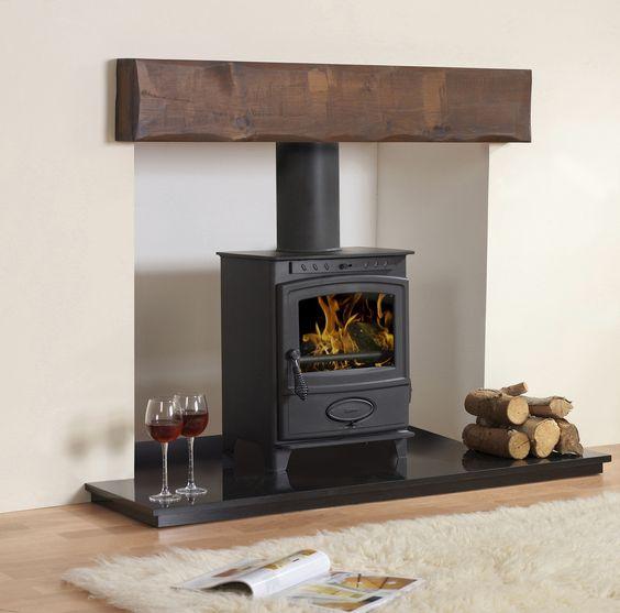 oak beam wood burner - Google Search