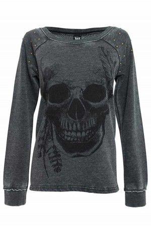 Skulls and studs sweatshirt