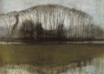 Piet Mondrian - Geinrust farm in watery landscape 1905-1906  (Via: jewelsallaround, benjaminhilts,artpropelled on Tumblr & janvaneyck on Flickr)