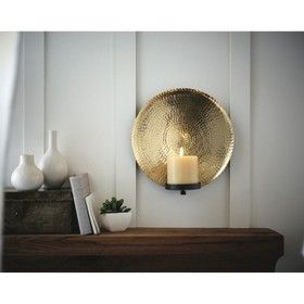 Wall Sconces For Candles Target : Hammered Bronze Wall Candle Holder : Target Mobile For the Home Pinterest Candle holders ...