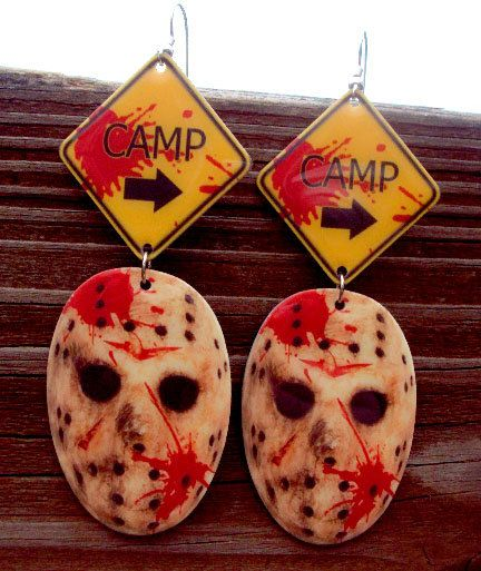 Jason Voorhees CaMp Earrings Friday the 13th by MirroredOpposites, $10.00
