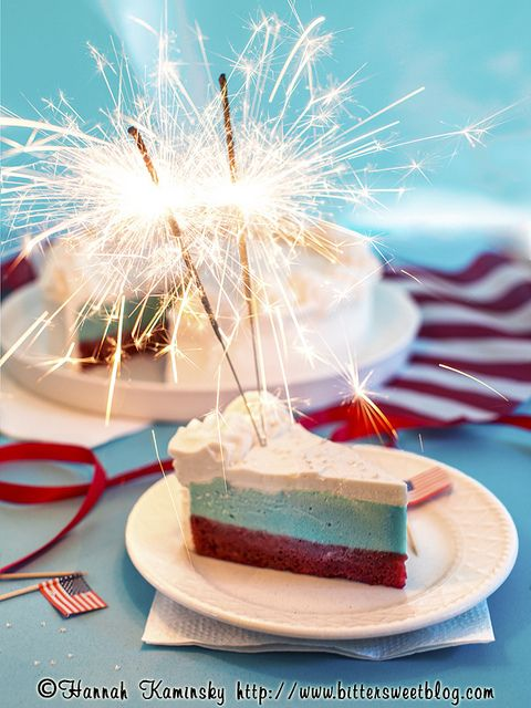 4th of July Ice Cream Cake by Bitter-Sweet