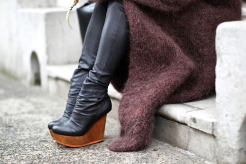 awesome!: Wedge Boots, Thigh High, Shoes Boots Heels, Street Style, Shoe Boots, Amazing Shoes Boots, Shoes Shoes
