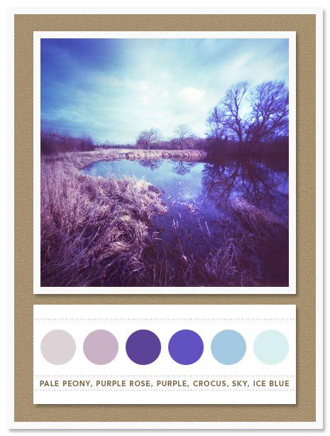 Colour Palette: pale peony, purple rose, purple, crocus, sky, ice blue