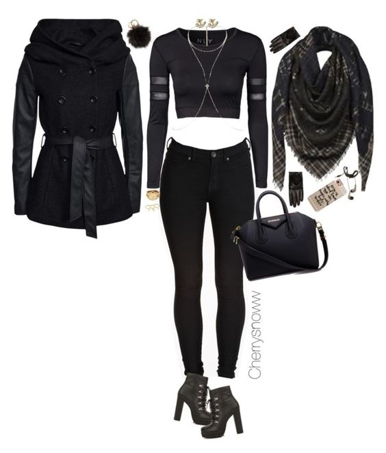 """""""All black everything"""" by cherrysnoww ❤ liked on Polyvore featuring Dr. Denim, ONLY, Nly Shoes, Michael Kors, Givenchy, NLY Accessories, Kate Spade, River Island, Rebecca Minkoff and Louis Vuitton"""
