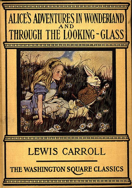 Alice In Wonderland Classic Book Cover ~ Wonderland classic and glasses on pinterest
