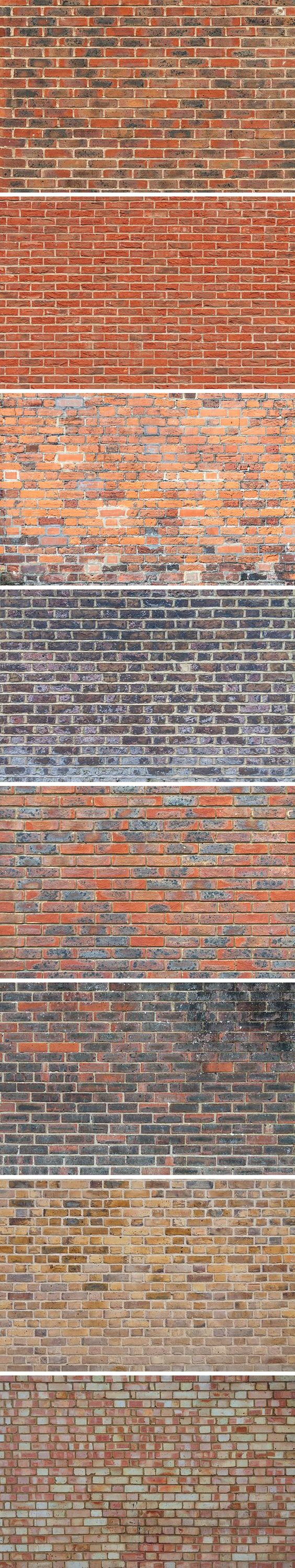 Brick Wall Textures - Today we have for you a collection of 8 high resolution brick wall textures. Feel free to use them for anything from wallpapers...