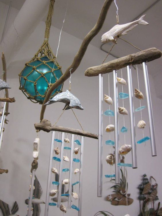 for Shell wind chimes diy