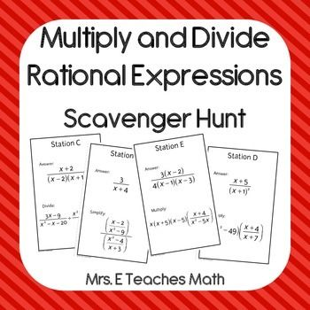 math worksheet : multiply and divide rational expressions scavenger hunt  : Multiplication And Division Of Rational Expressions Worksheets