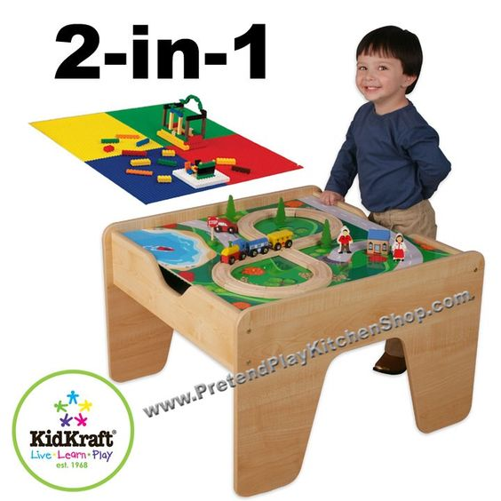 KidKraft 2-in-1 Activity Table with LEGO-Compatible Board is a fun gift idea for any young, imaginative child. The table will fit in any room of the house and parents are sure to love how it keeps playtime off the floor. [$129.95]