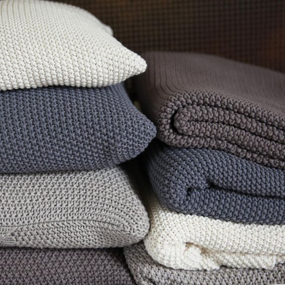Moss Stitch Cotton Throws, love this