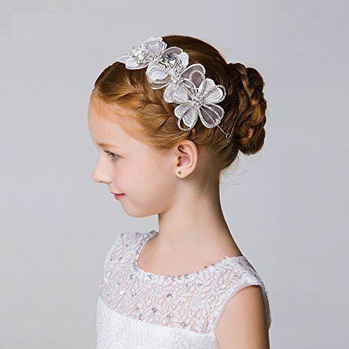 Dreamyo 髪飾り 花 ヘアピン 子供 発表会 フラワーティアラ クリップ