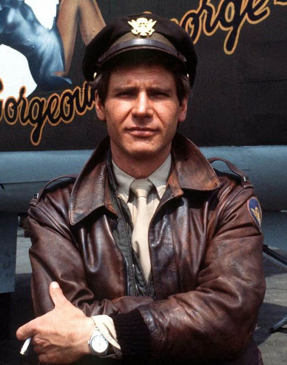 """..._Harrison Ford, in """"Hanover Street"""" movie, had to wear the Type A-2 leather flight jacket."""
