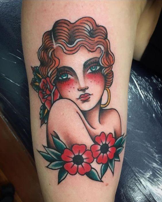 Pin By Dchavos On R Sco Traditional Tattoo Portrait Tattoos Hawaiian Tattoo